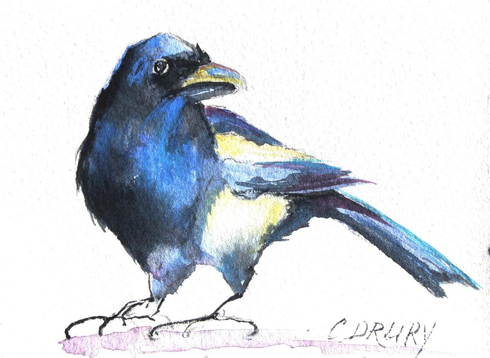 """Magpie"" original fine art by Colleen Drury"