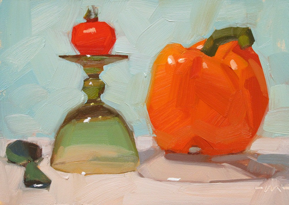 """Veggie Royalty"" original fine art by Carol Marine"