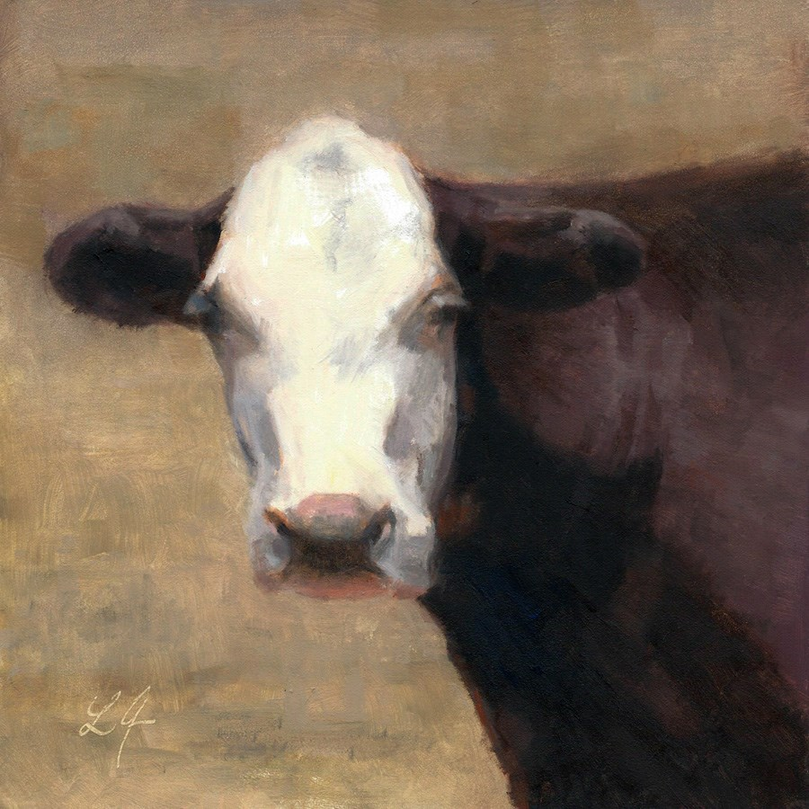 """""""Cow in the Meadow"""" original fine art by Linda Jacobus"""
