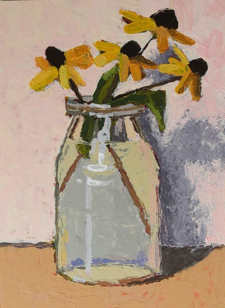 """""""Black-eyed Susans"""" original fine art by Joan Wiberg"""