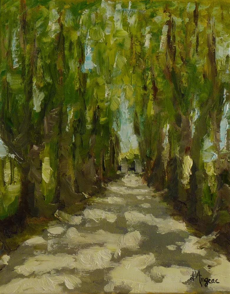 """""""Tree Lined"""" original fine art by Karen D'angeac Mihm"""