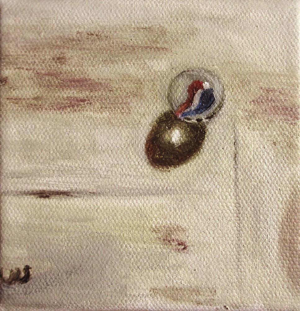 """Marble on Painting Pad"" original fine art by Ulrike Miesen-Schuermann"