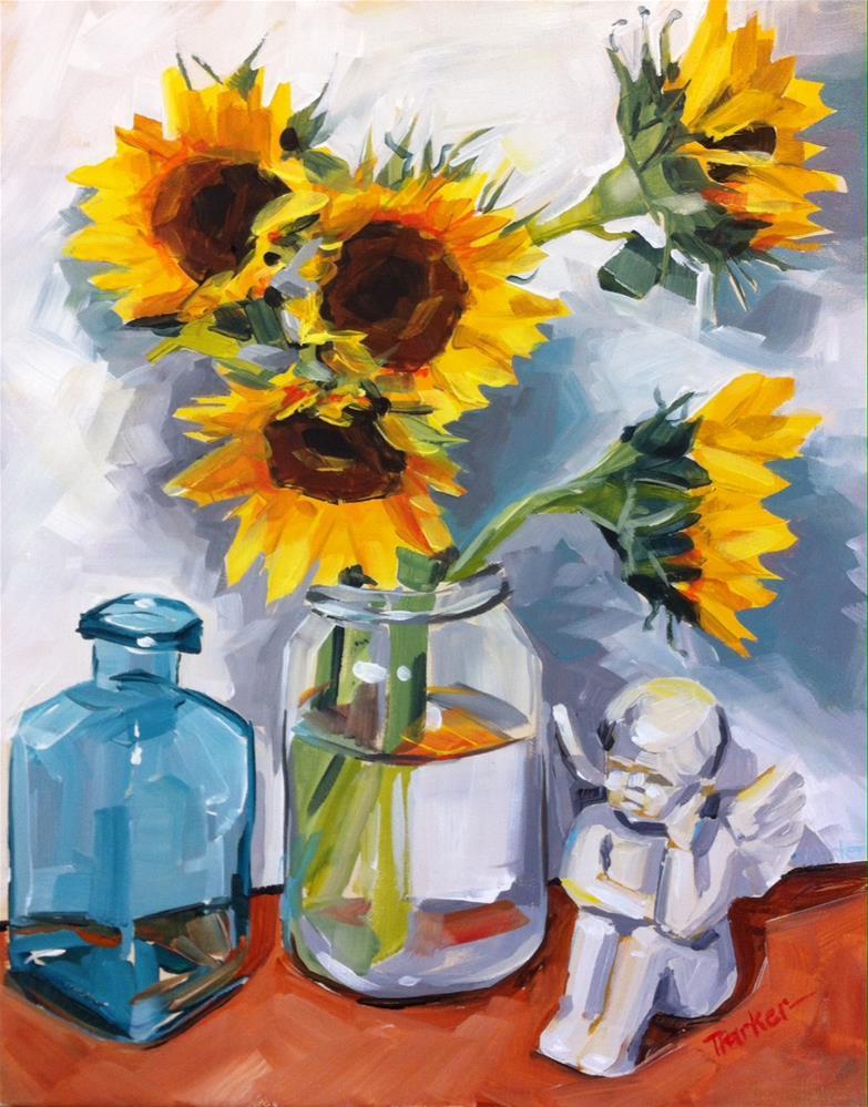 """Alone Under the Flowers"" original fine art by Teddi Parker"