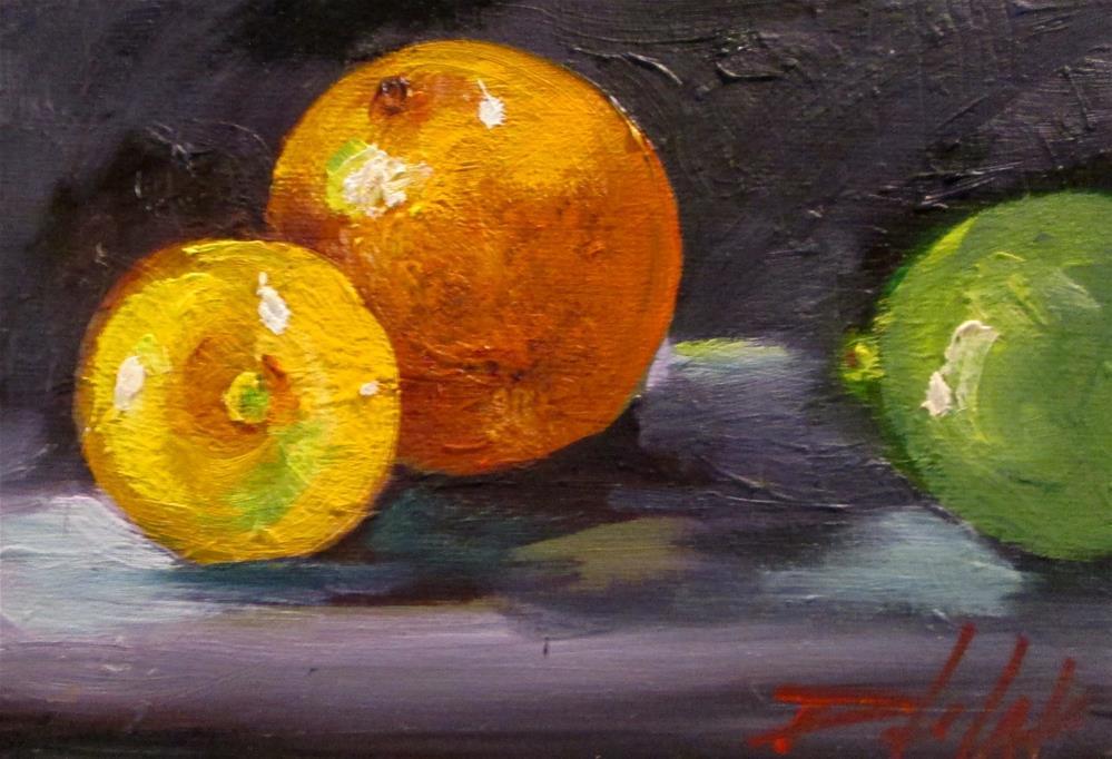 """Lemon Orange Lime"" original fine art by Delilah Smith"