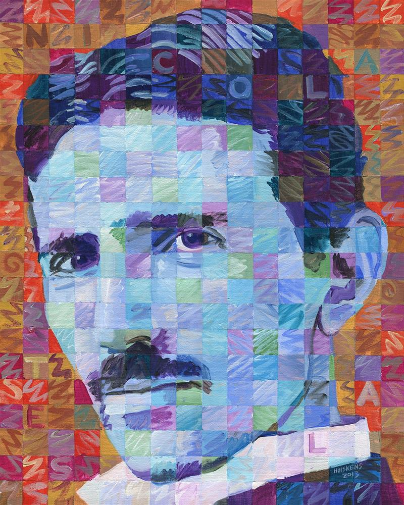 """Nicola Tesla"" original fine art by Randal Huiskens"