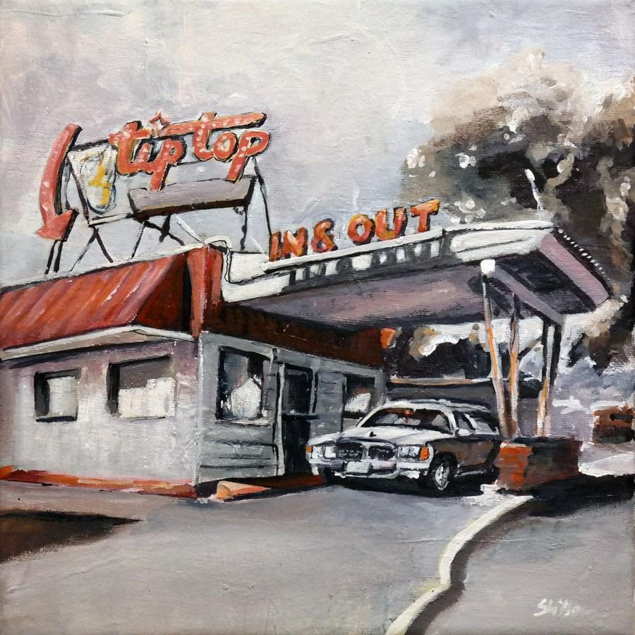 """""""1561 tiptop IN OUT"""" original fine art by Dietmar Stiller"""