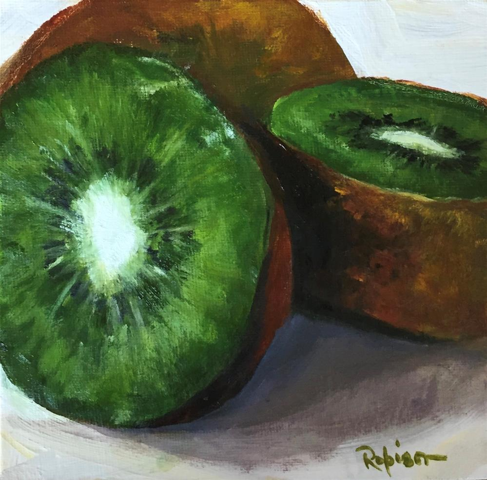 """Kiwi Redux"" original fine art by Renee Robison"