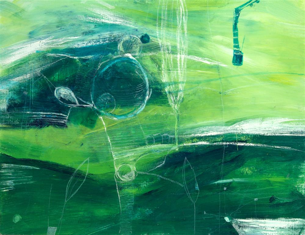 """Dreaming in the field - everybody can do this"" original fine art by Zuzana Petrakova"