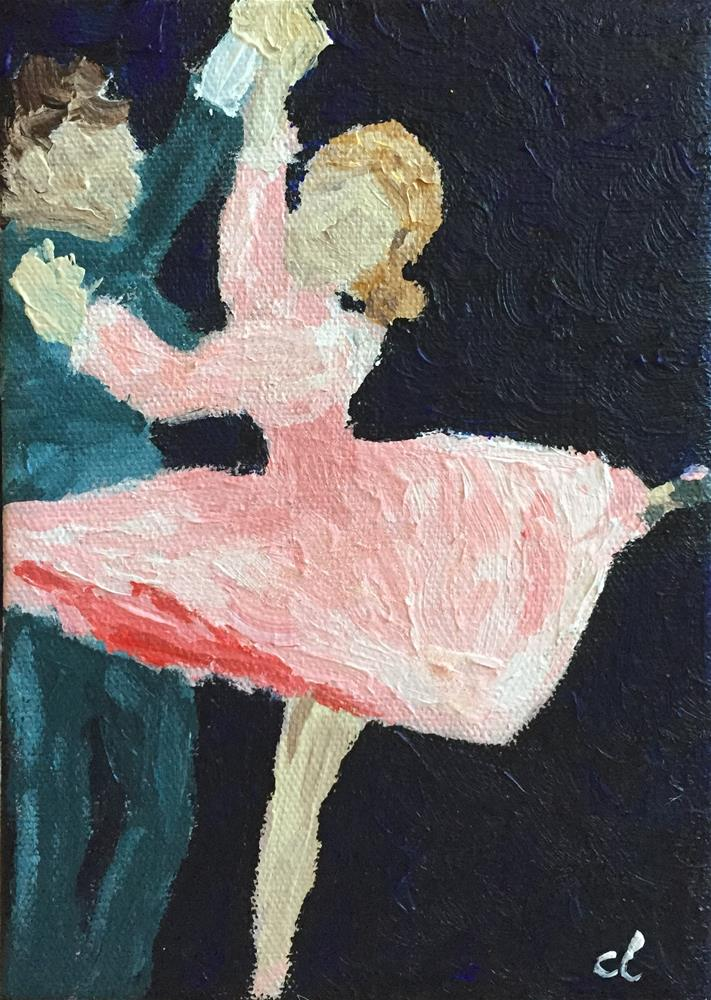"""The Best things happen while you're Dancing"" original fine art by Cheree Apalona Lueck"