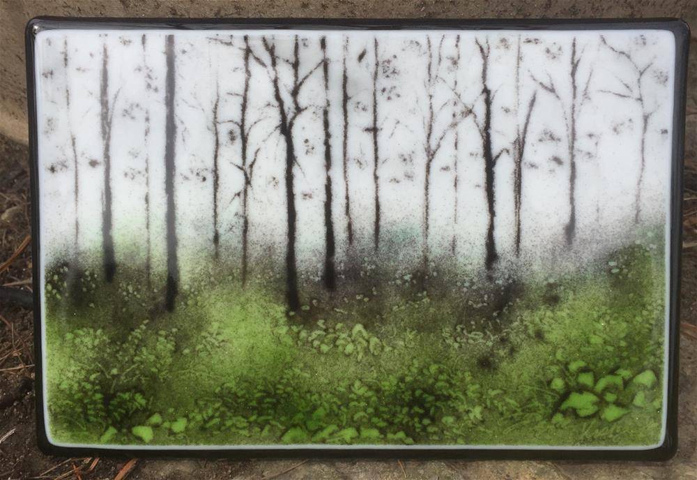 """""""Mossy Green Roadside Trees"""" original fine art by Kelly Alge"""