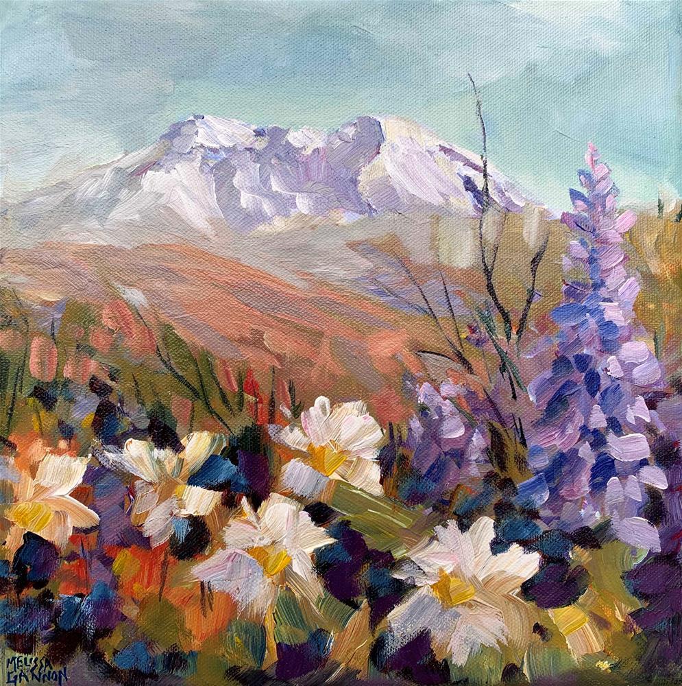 """Flower Abundance at Mt St Helens"" original fine art by Melissa Gannon"