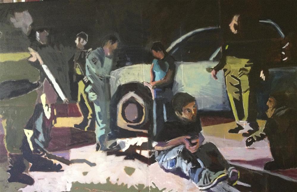 """""""Caught"""" original fine art by Pamela Hoffmeister"""