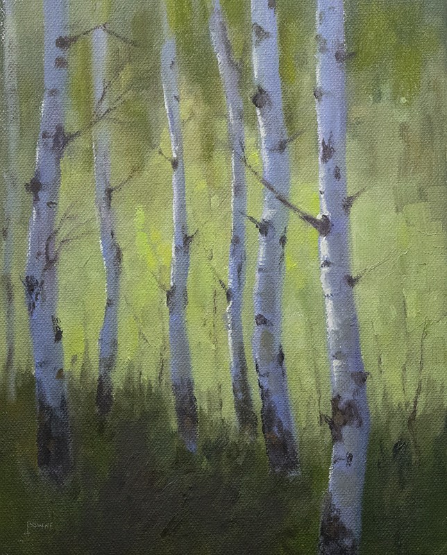 """Spring Greens"" original fine art by Bonnie Bowne"