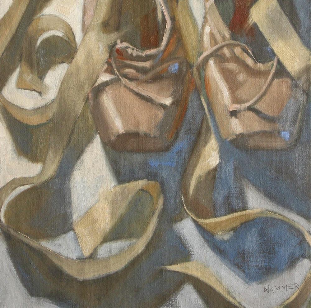 """A couple  8x8  oil"" original fine art by Claudia Hammer"