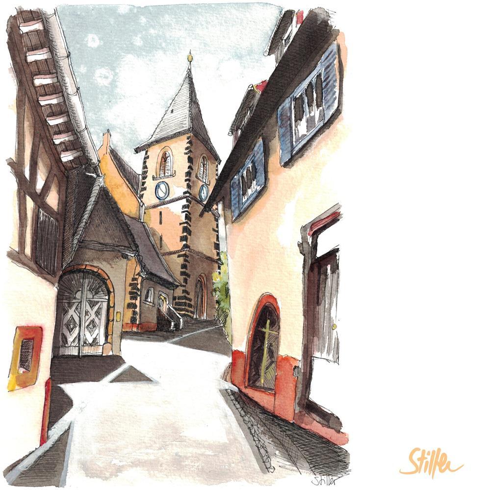 """""""3559 Burkheim"""" original fine art by Dietmar Stiller"""