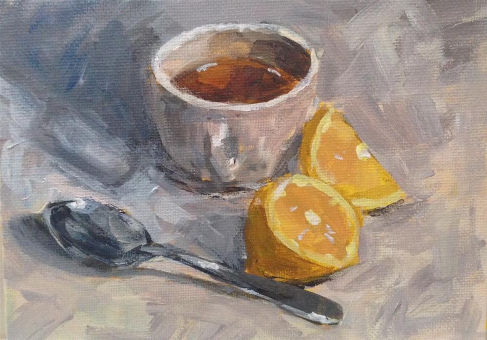 """""""Tea With Lemon"""" original fine art by Shannon Bauer"""