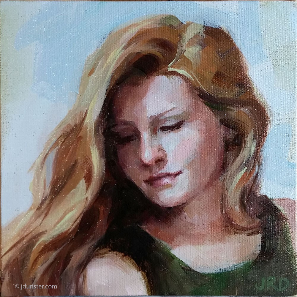 """Elle - small study"" original fine art by J. Dunster"