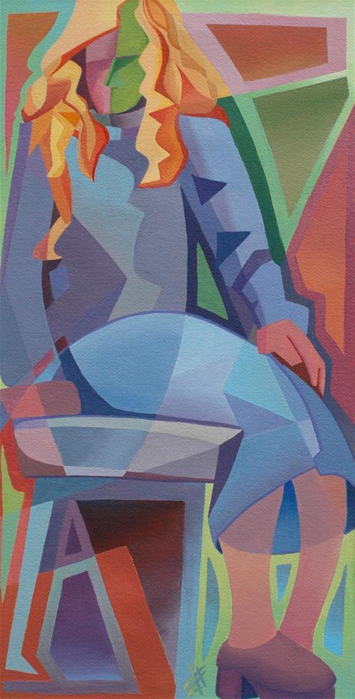 """Cubist Girl"" original fine art by Mark Allison"