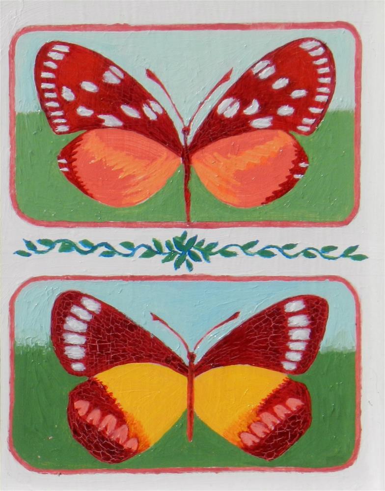 """""""Double Butterflies #2"""" original fine art by Velma Davies"""