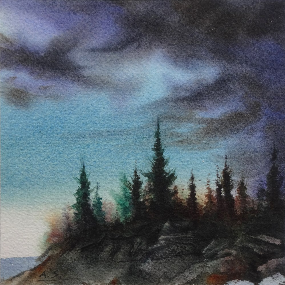"""Thunderhead"" original fine art by Arena Shawn"