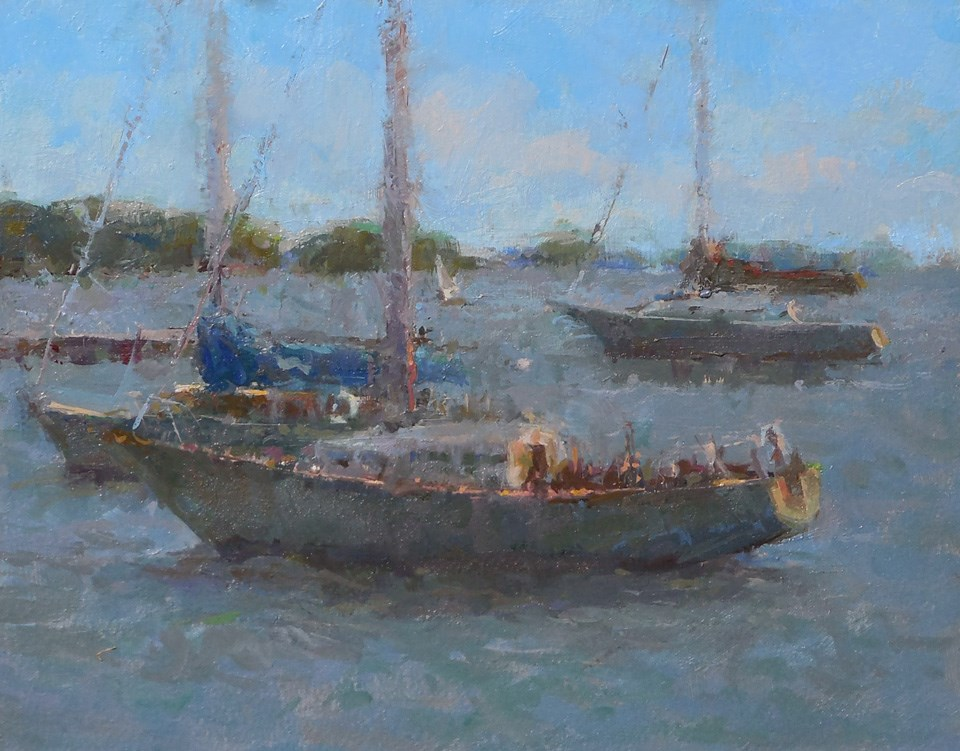 """Harbourfront  Sailboat  03"" original fine art by Michael Pieczonka"
