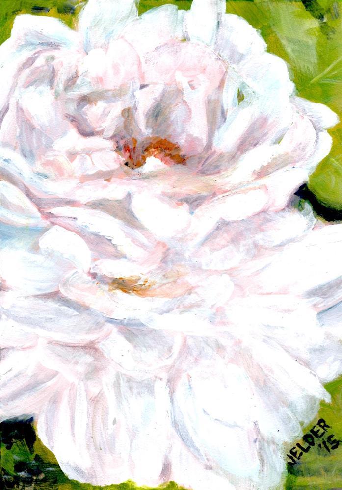 """Two Roses"" original fine art by Judith Elder"