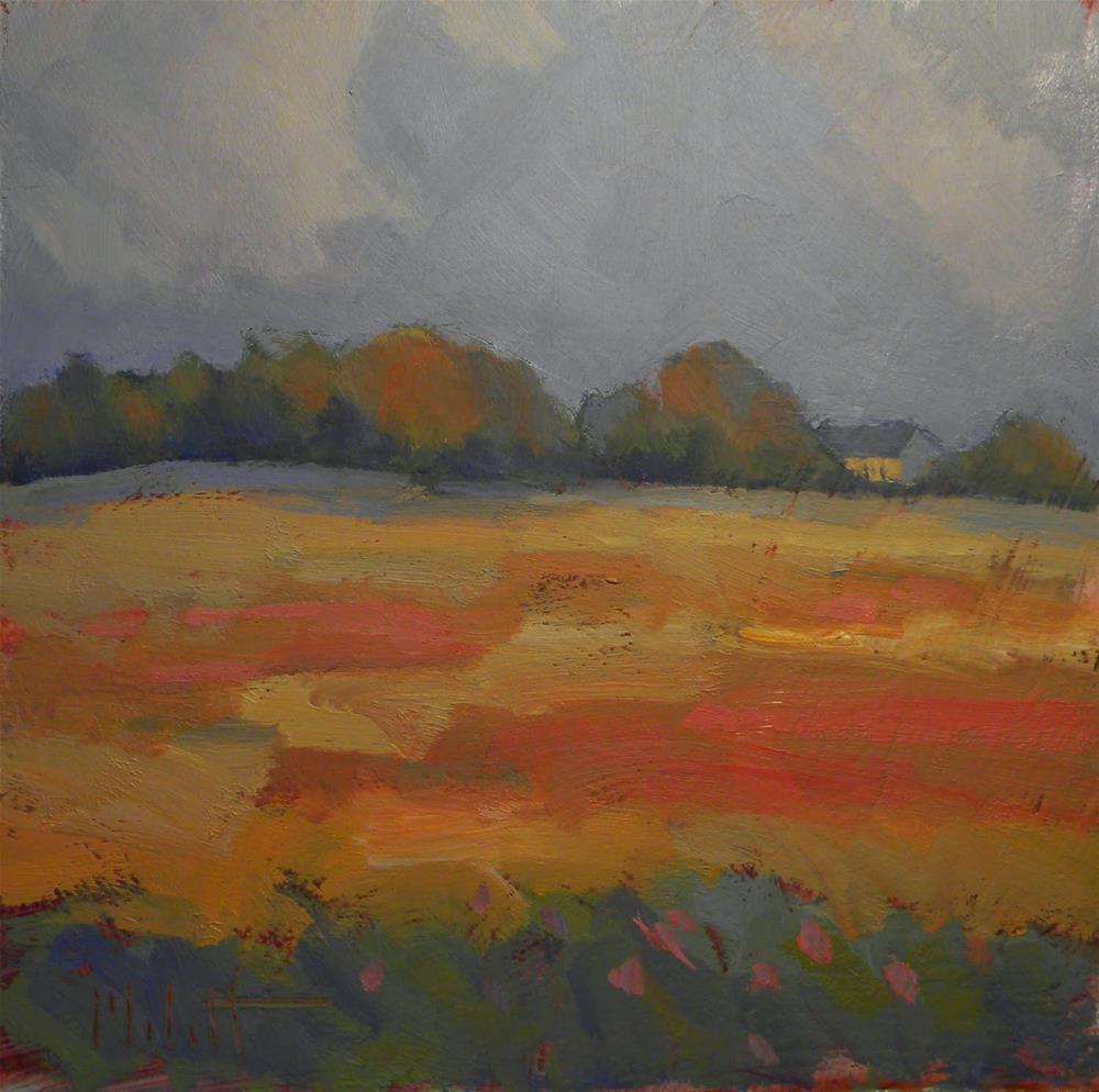 """Looks Like Rain Autumn Fields Landscape Heidi Malott Original Paintings"" original fine art by Heidi Malott"
