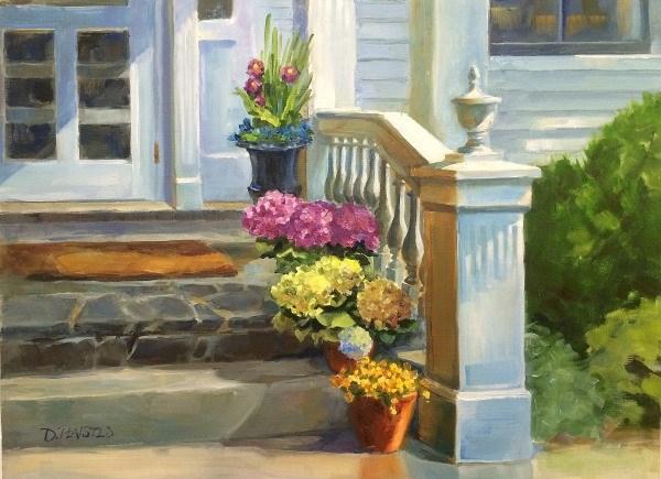 """Morning Welcome, Martha's Vineyard"" original fine art by Diane Plaisted"