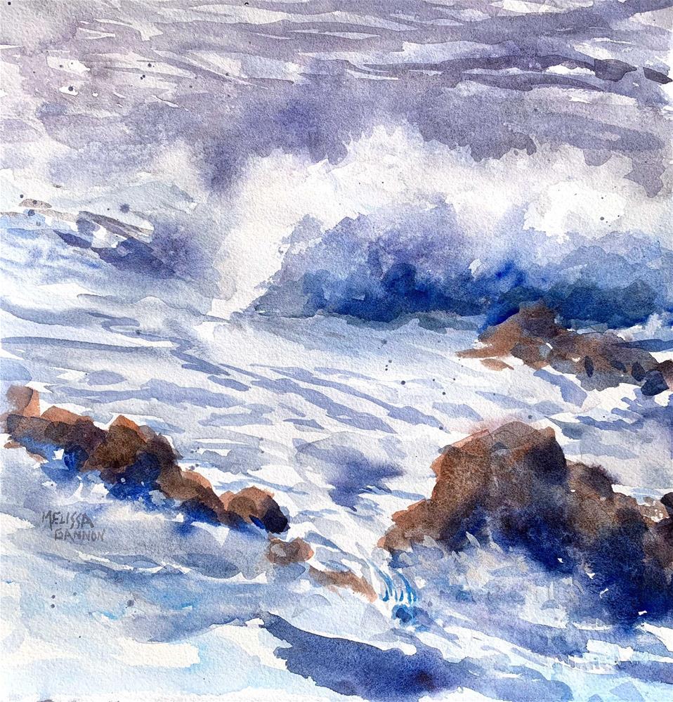 """Ocean of Winter"" original fine art by Melissa Gannon"