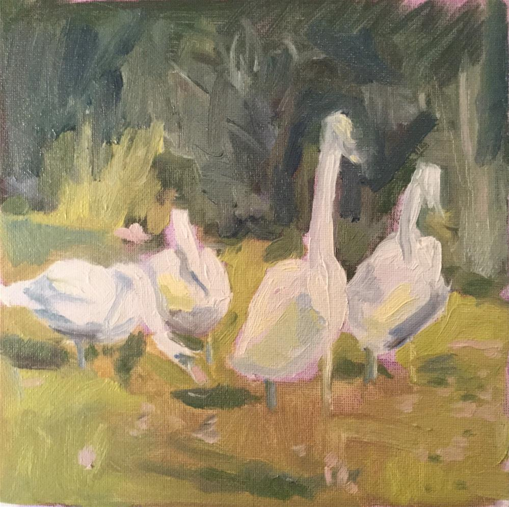 """Group Portrait"" original fine art by Barb Walker"
