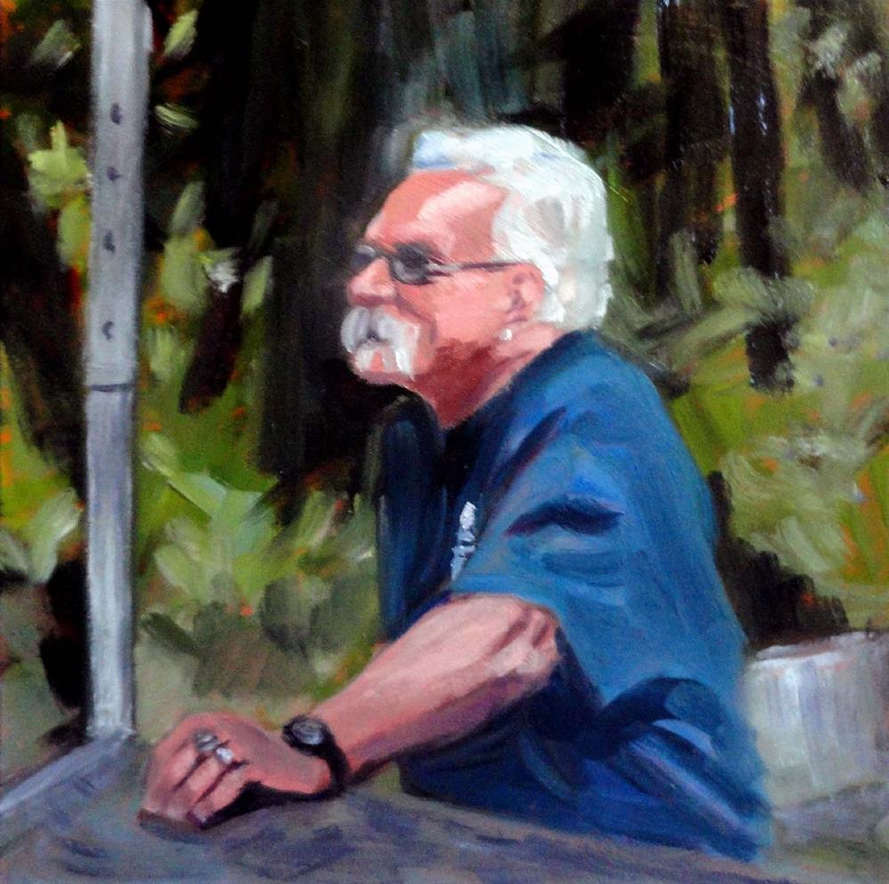"""Our Fire Chief"" original fine art by Cietha Wilson"