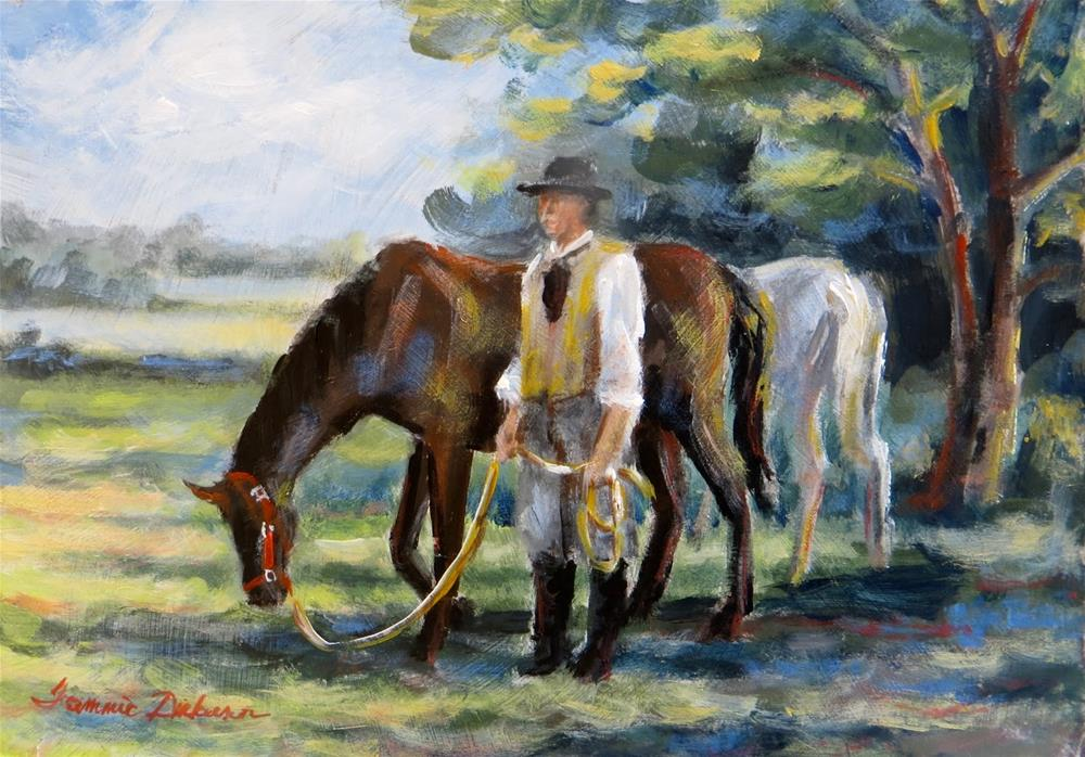 """""""After the Ride"""" original fine art by Tammie Dickerson"""