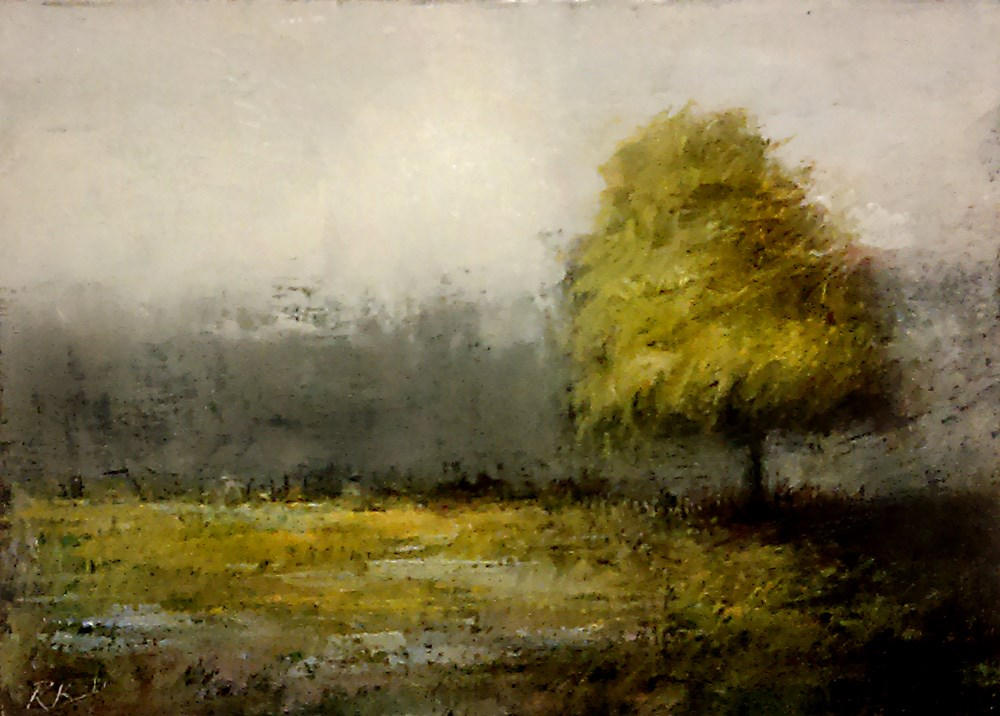 """""""A Tree in the Park"""" original fine art by Bob Kimball"""