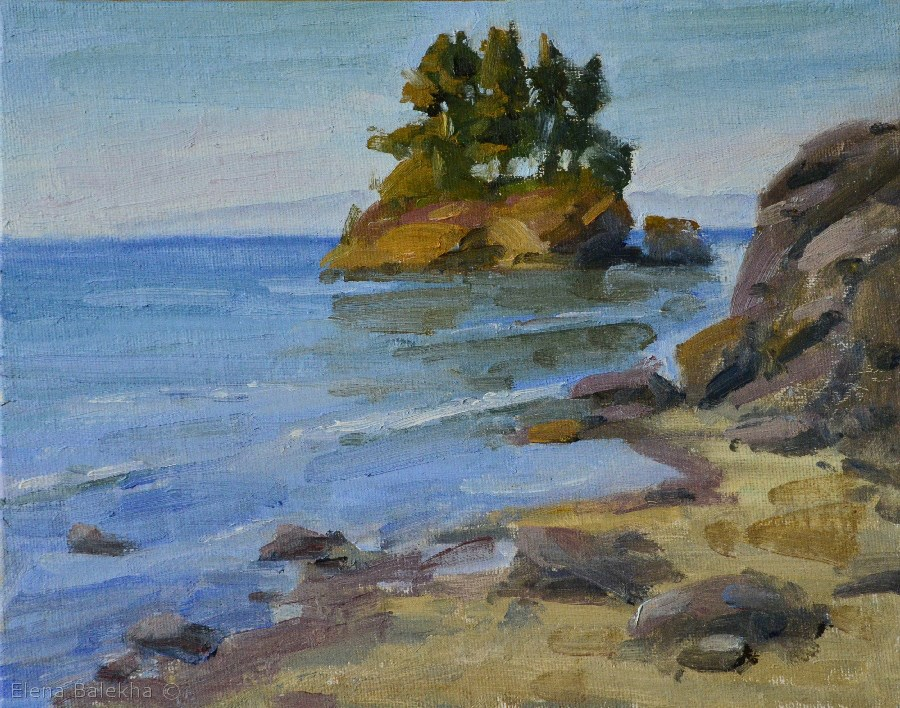 """Olympic Coastline"" original fine art by Elena Balekha"