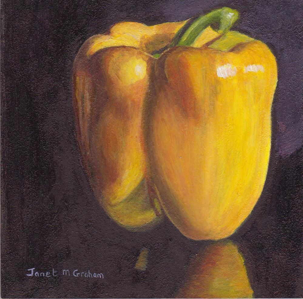 """Yellow Pepper"" original fine art by Janet Graham"