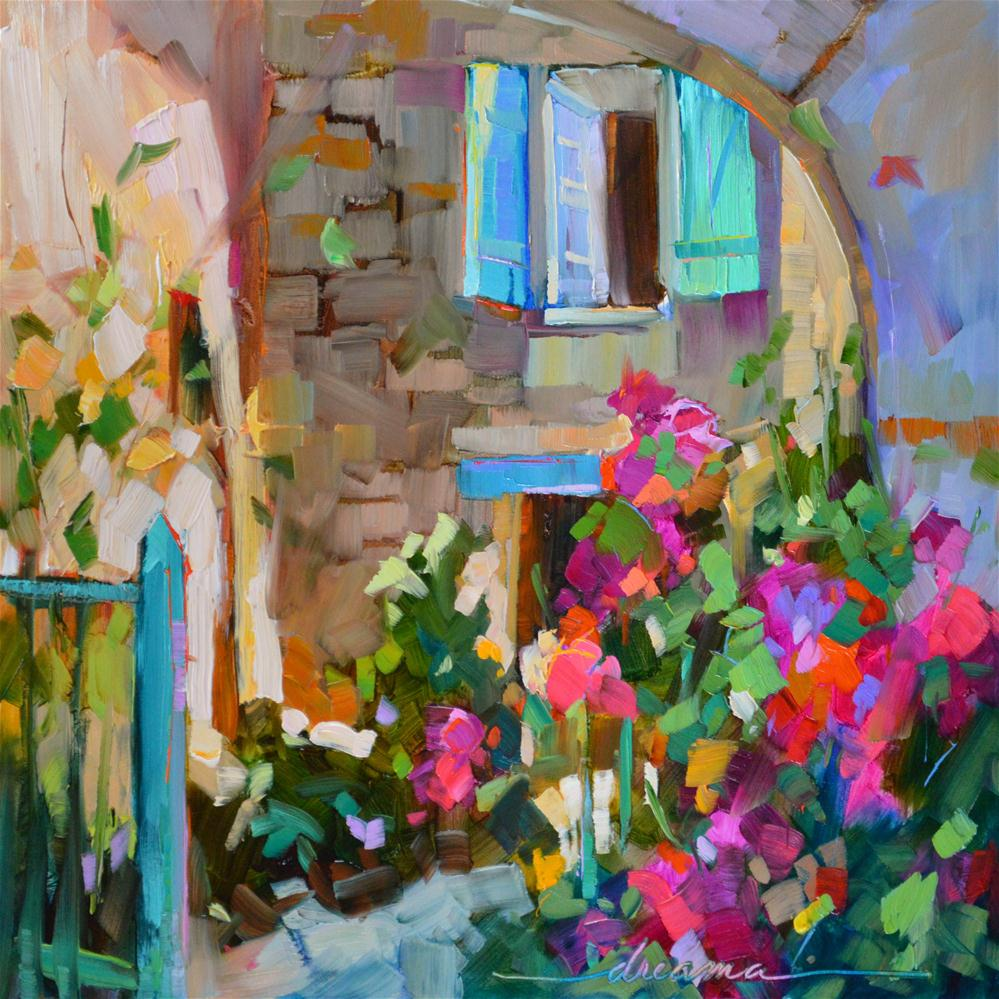 """""""Step Inside"""" original fine art by Dreama Tolle Perry"""