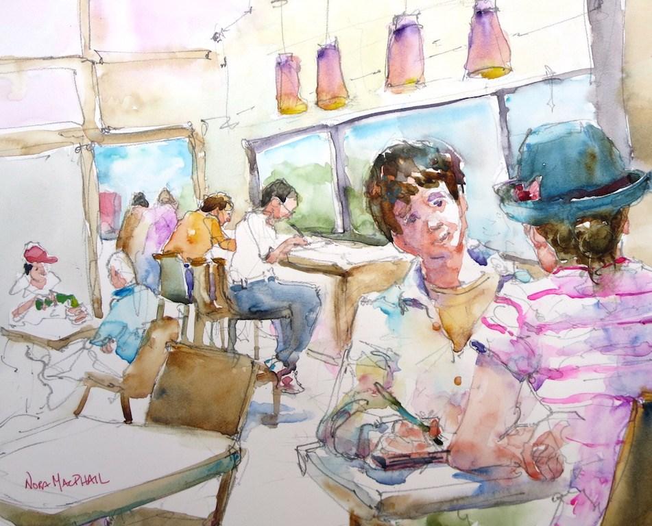 """language"" original fine art by Nora MacPhail"