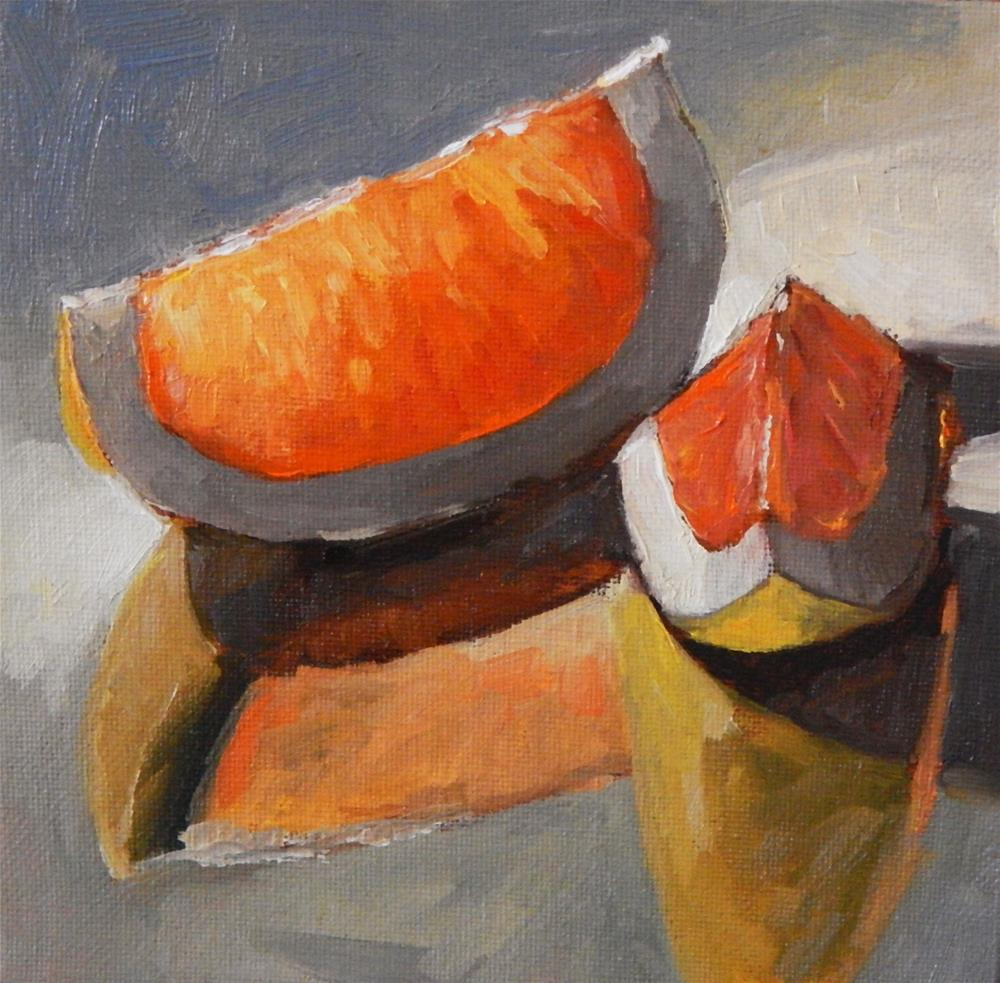 """Orange Pieces"" original fine art by Lisa Kyle"