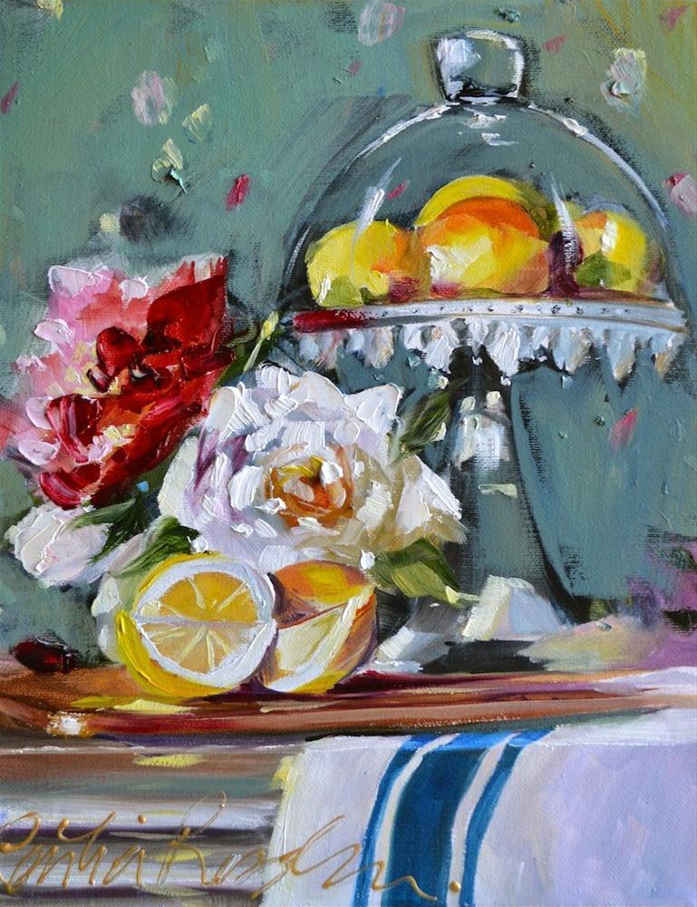 """LEMONS IN CLOCHE"" original fine art by Cecilia Rosslee"