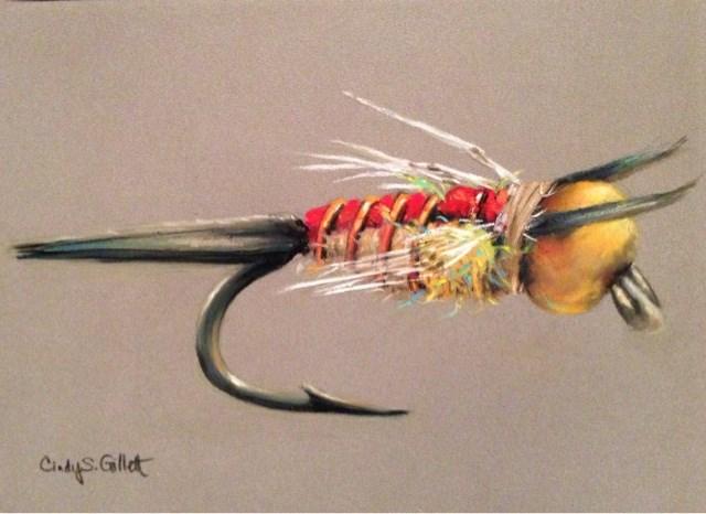 """""""Copper John - Yellow Belly"""" original fine art by Cindy Gillett"""