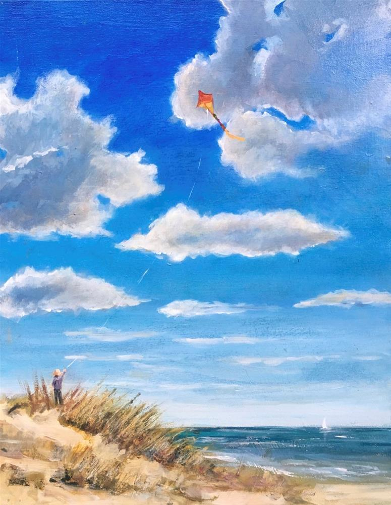 """Kite Flyer"" original fine art by Linda Marino"