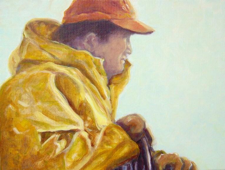 """""""Fisherman"""" original fine art by J Kelsey"""