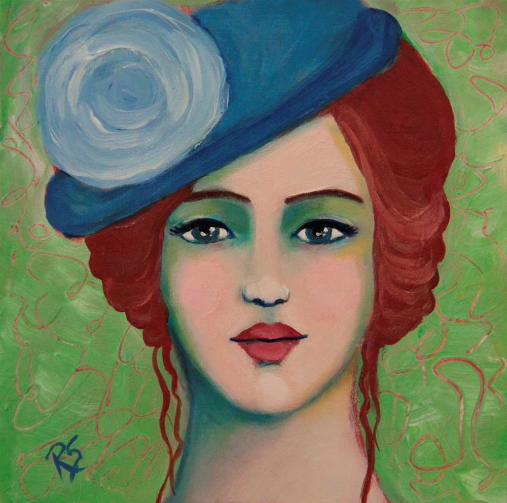 """""""Rosemonde"""" original fine art by Roberta Schmidt"""