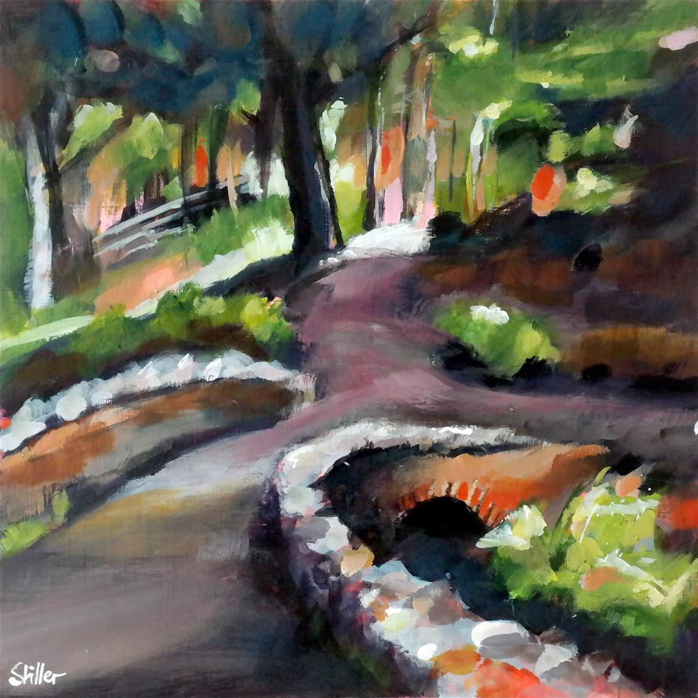 """3644 Back in the woods"" original fine art by Dietmar Stiller"