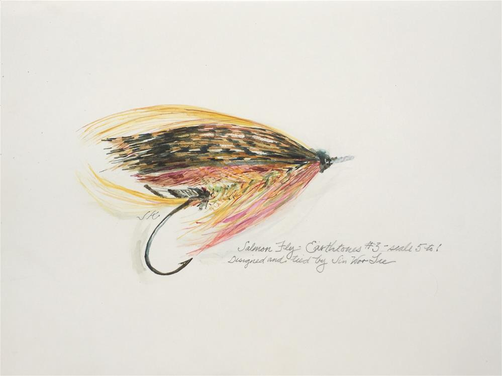 """""""Salmon Fly, Earthtones #3, Jin Woo Lee"""" original fine art by Jean Krueger"""