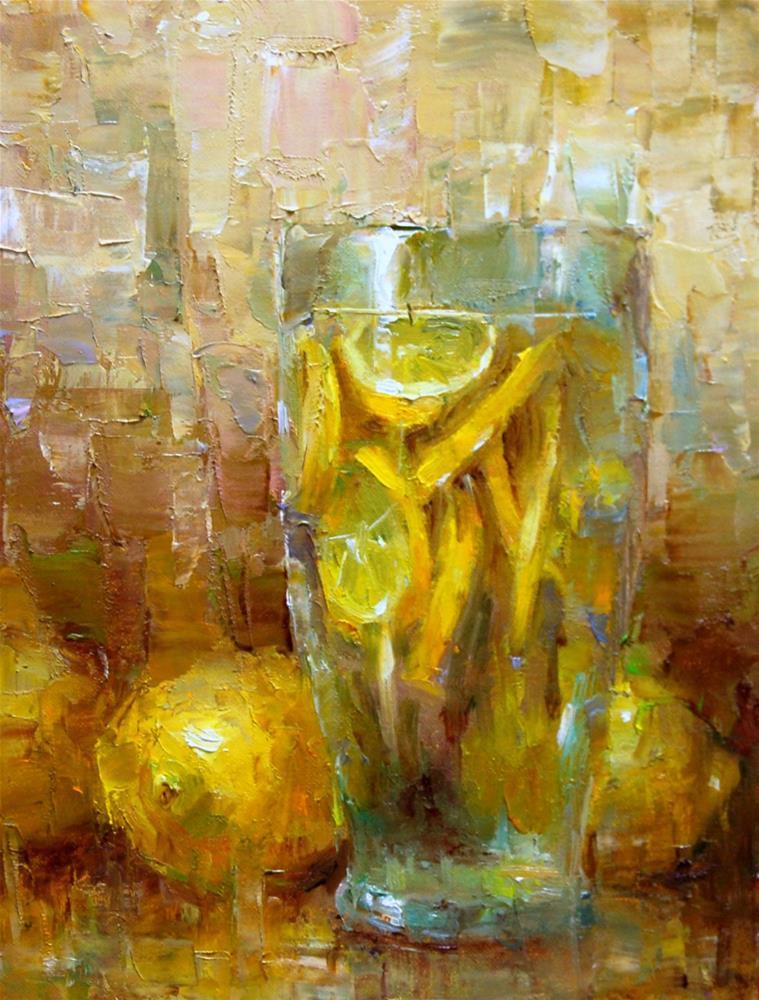 """""""Lemonade"""" original fine art by Julie Ford Oliver"""