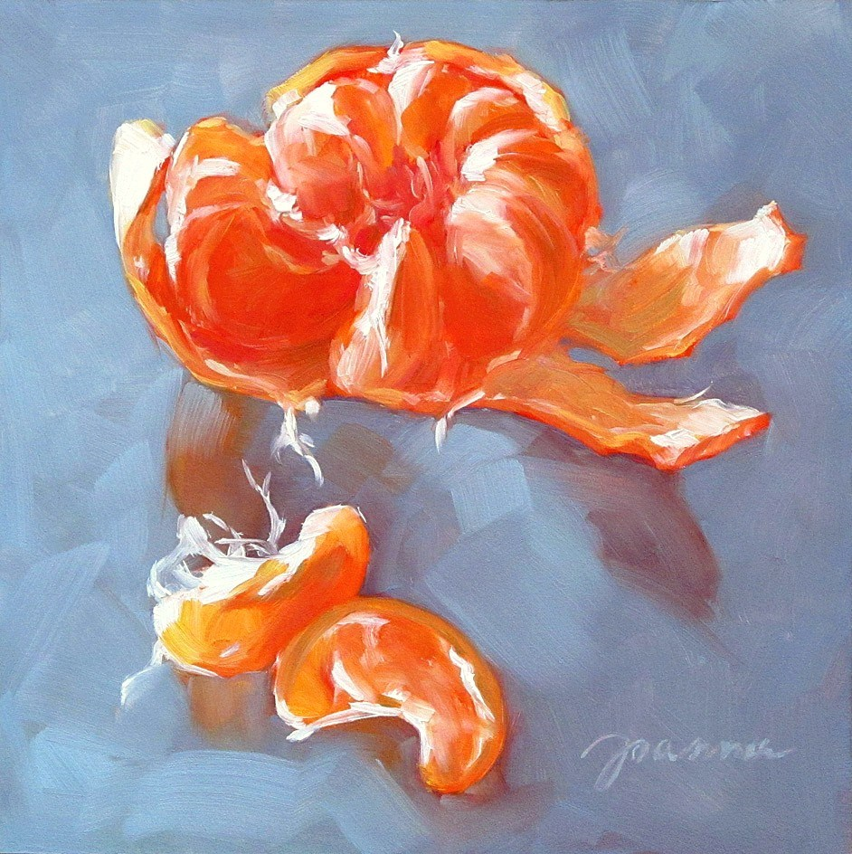 """Sun Dancing Orange"" original fine art by Joanna Bingham"