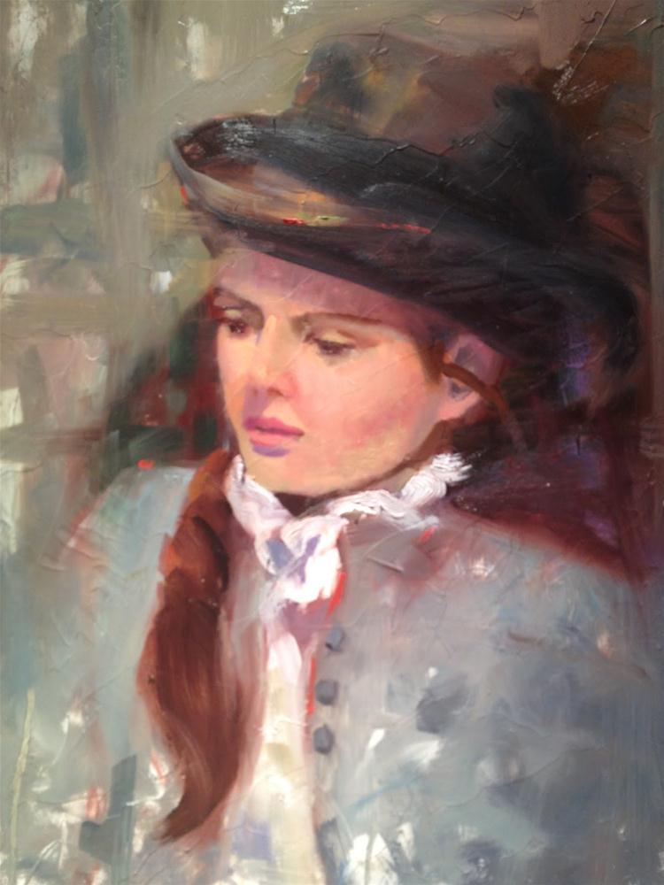 """Painting Portraits with Kevin Bielfuss"" original fine art by Ann Feldman"