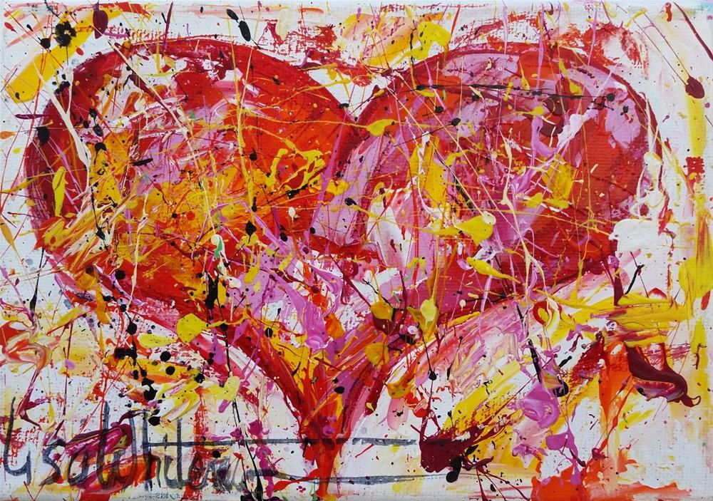 """91 - Be Mine"" original fine art by Lisa Rogers"