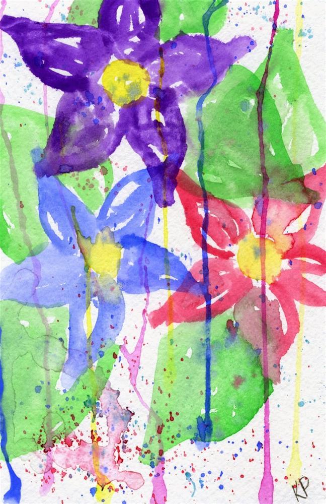 """Through the Rain"" original fine art by Kali Parsons"